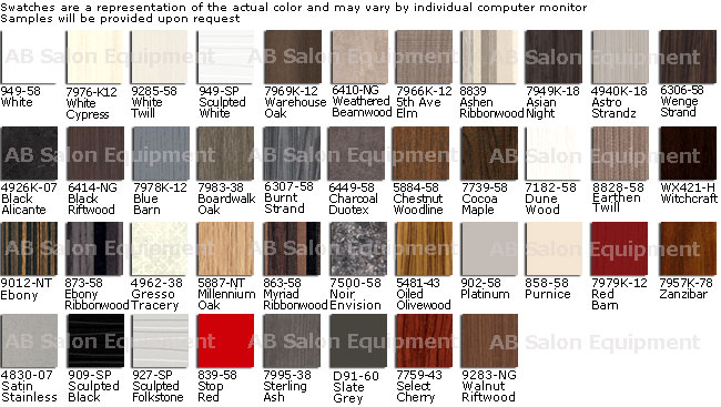 Collins Custom Laminate Colors